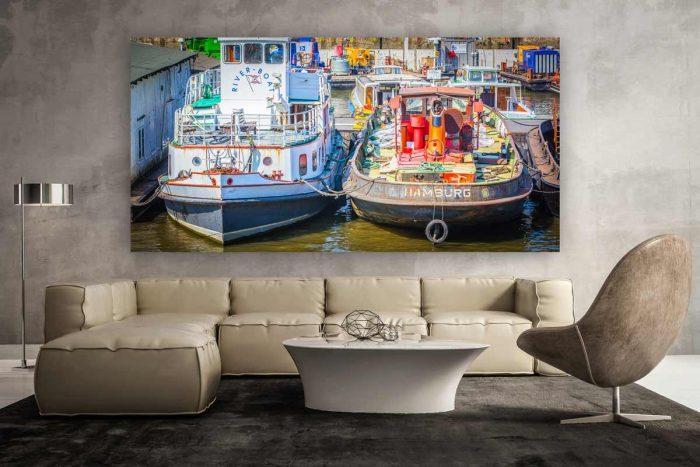 Panorama Hafen Hamburg. Kunst Bilder und Fotografie von d. Alster