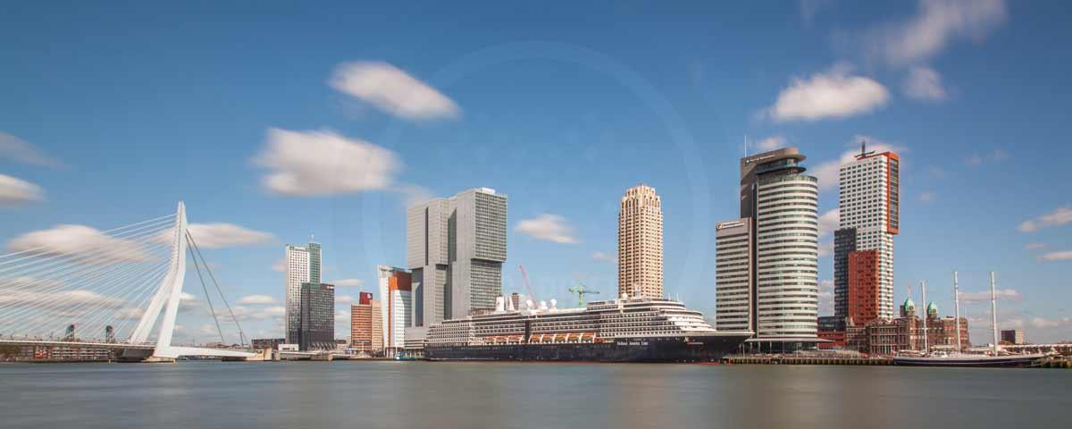 panorama rotterdam kunst skyline bild mit moderner architektur. Black Bedroom Furniture Sets. Home Design Ideas