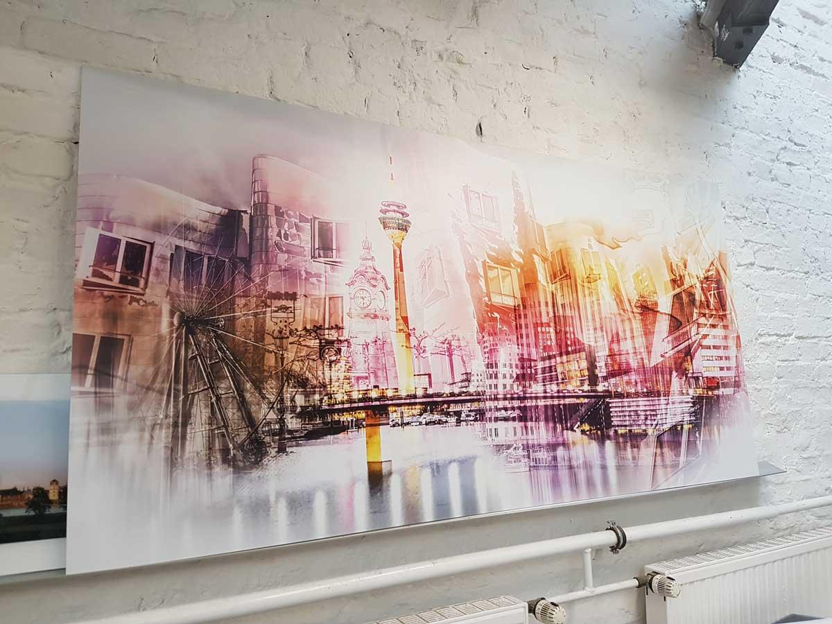Pop-Art-Kunstbild-auf-AluDiBond-in-2-x-1-Meter