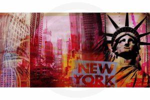Pop-Art New York Kunst Bild   Moderne Pop Art Kunst Collage