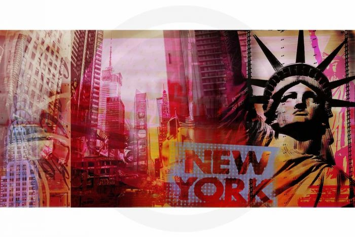 Pop-Art New York Kunst Bild | Moderne Pop Art Kunst Collage