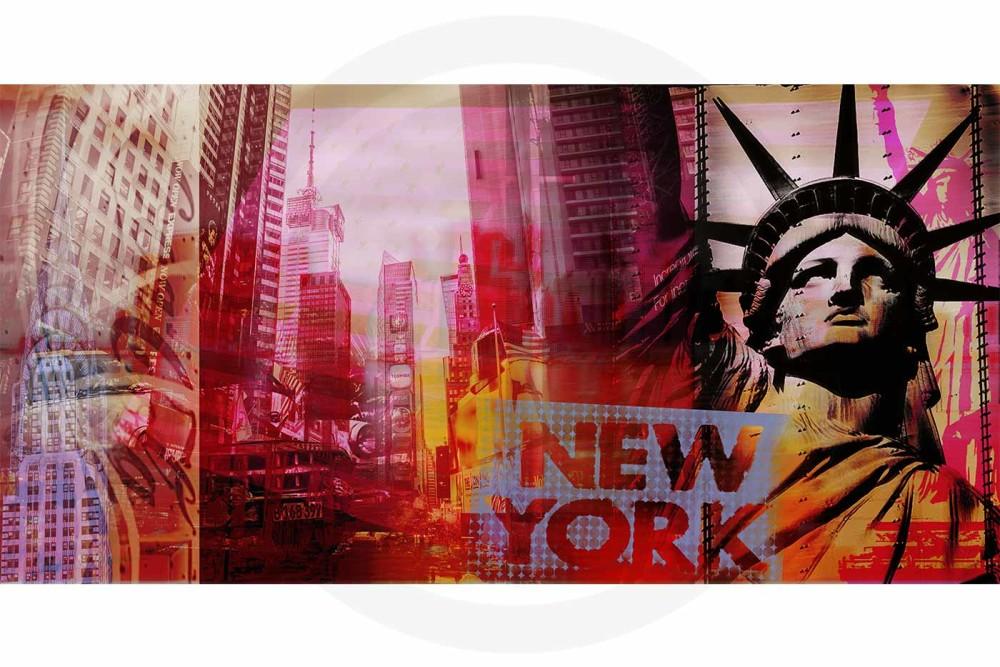 Pop-Art New York Kunst Bild | Moderne Pop Art Kunst Collage