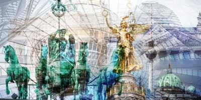 Kunstbilder aus dem Ruhrgebiet, mit Motiven aus Essen, Dortmund und Duisburg