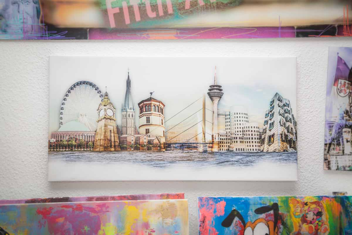 Pop-Art Wandbilder und moderne Leinwandkunst aus Düsseldorf