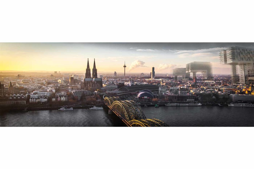 rheinauhafen k ln panorama bild stadt kunst skyline. Black Bedroom Furniture Sets. Home Design Ideas