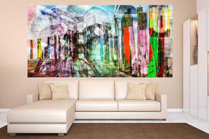 Ruhrgebiet Acrylbilder und Pop-Art Kunst auf Leinwand. Panorama Motive
