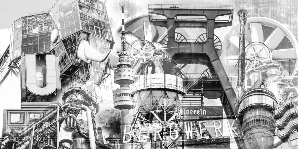Schwarz Weiss Ruhrgebiet Bilder Und Moderne Panorama Acryl Kunst