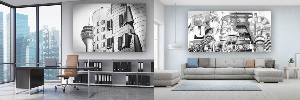 Schwarz-weiß Kunstbilder und Collagen Hamburg