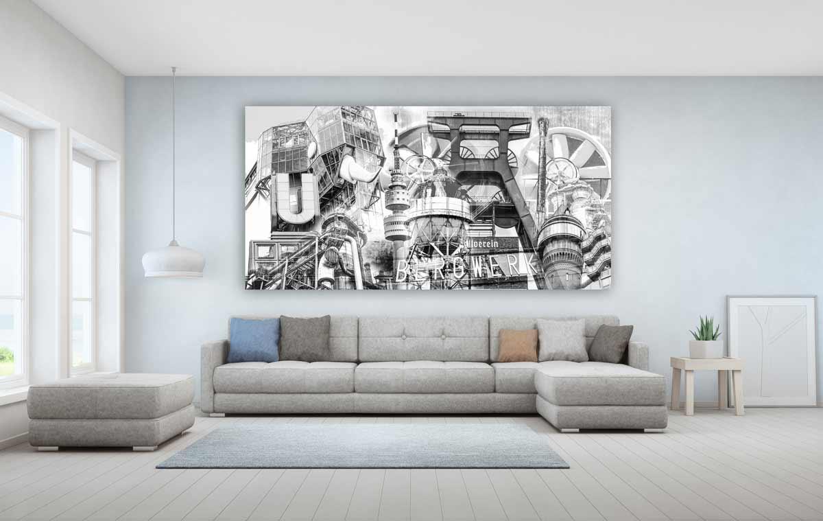 Schwarz Weiß Ruhrgebiet Bilder Und Moderne Panorama Acryl