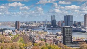 Skyline Rotterdam Bild   Moderne Fotografie aus der tollen Stadt