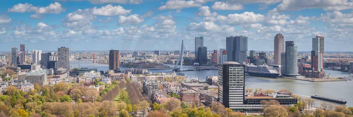 Skyline Rotterdam Bild | Moderne Fotografie aus der tollen Stadt