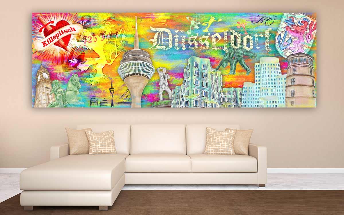 Wandbild d sseldorf collage abstrakte leinwandbilder und for Abstrakte kunstdrucke