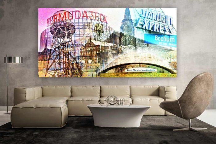 Wandbilder Bochum mit Pop-Art Motiven. Kunst Collagen ausm Ruhrgebiet