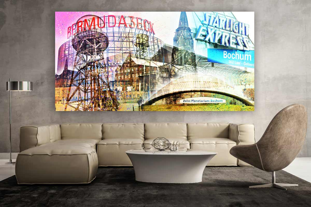 wandbilder bochum mit pop art motiven kunst collagen ausm ruhrgebiet. Black Bedroom Furniture Sets. Home Design Ideas