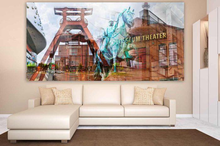 Wandbilder Essen und Kunst Motive im Panorama Format aus dem Pott
