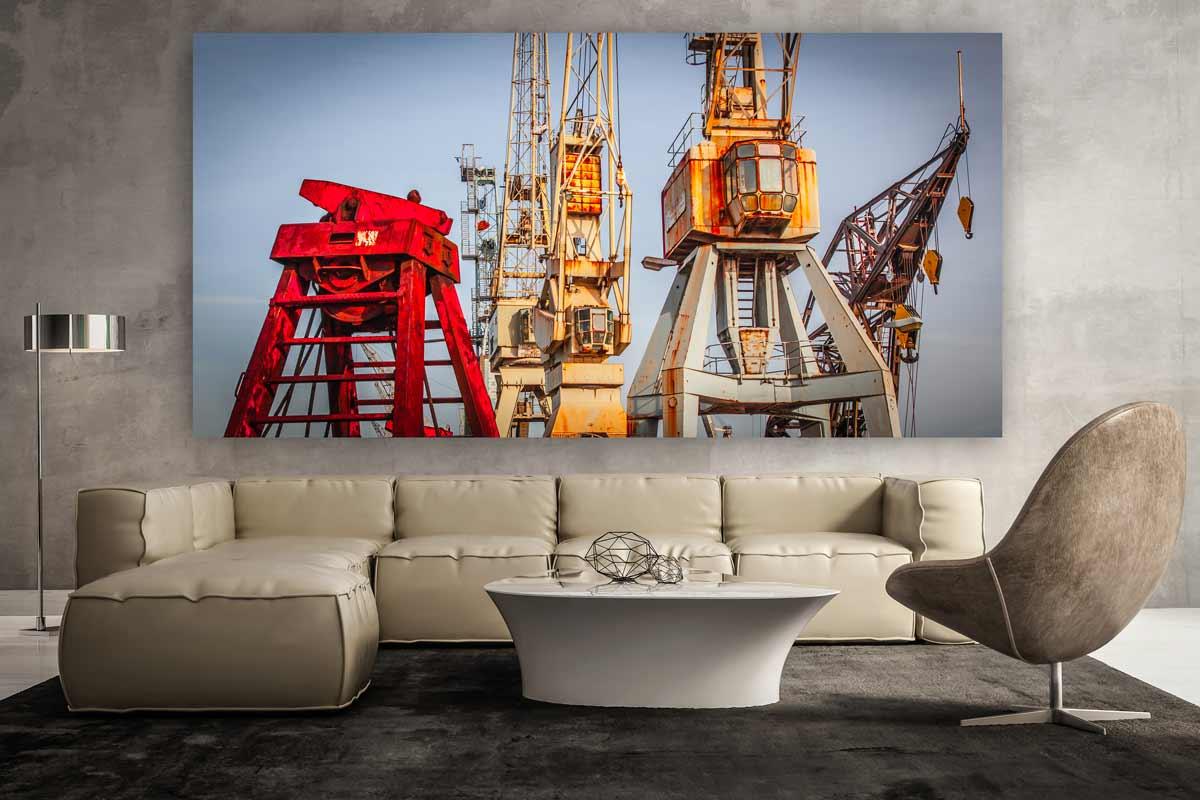 Moderne Kunst Bilder Auf Leinwand ~ Wandbilder hamburg mit kran panorama abstrakte und moderne kunst