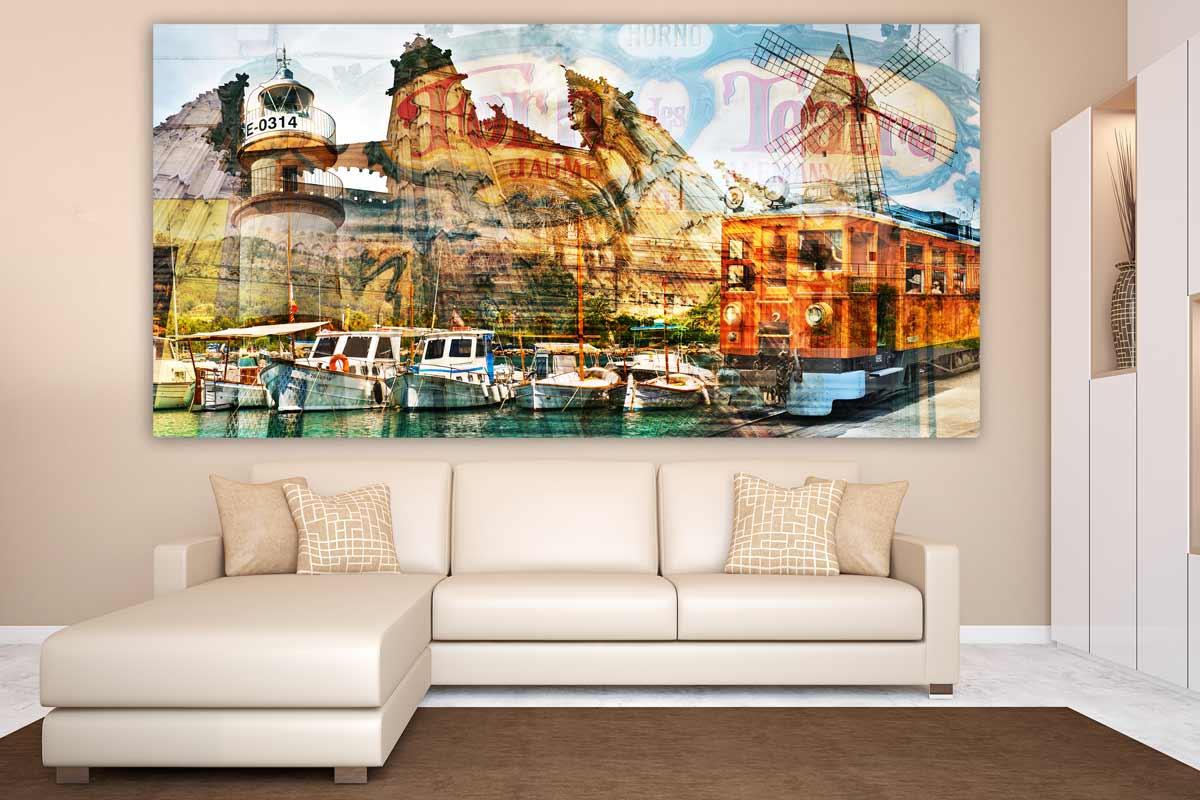 wandbilder mallorca im exclusiven pop art panorama kunst