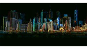 Wandbilder New York | Skyline Collage der Stadt am Hudson River