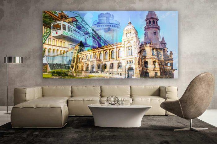 Wuppertal Kunstbilder - Moderne Pop-Art Leinwandbilder als Panorama
