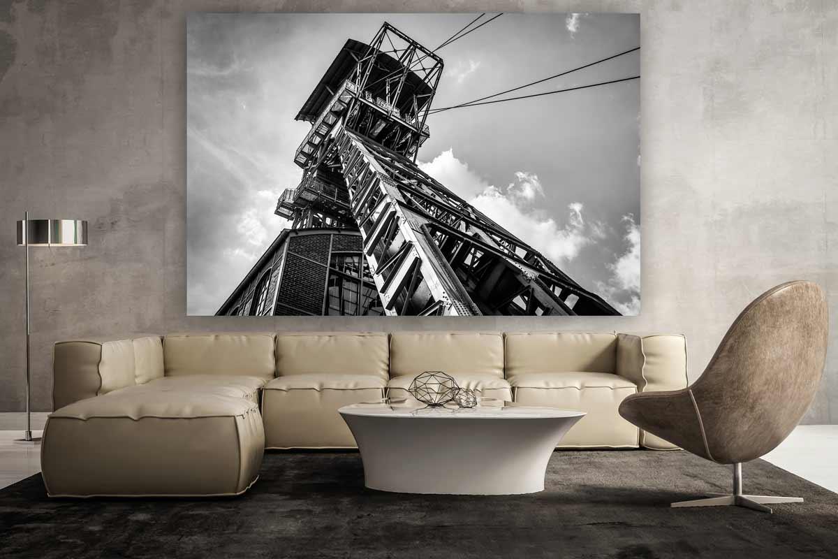 zeche dortmund industriekultur im ruhrgebiet bild auf leinwand. Black Bedroom Furniture Sets. Home Design Ideas
