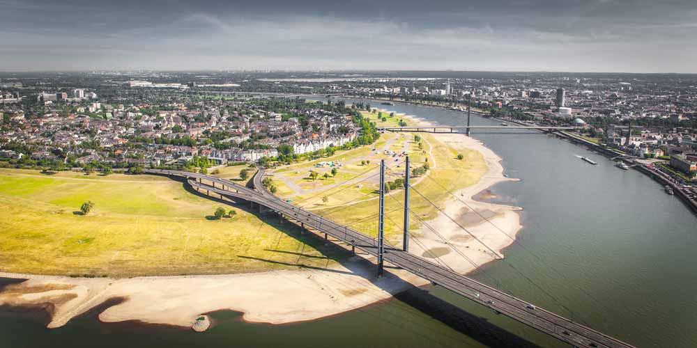 Düsseldorf Oberkassel Panorama Bild