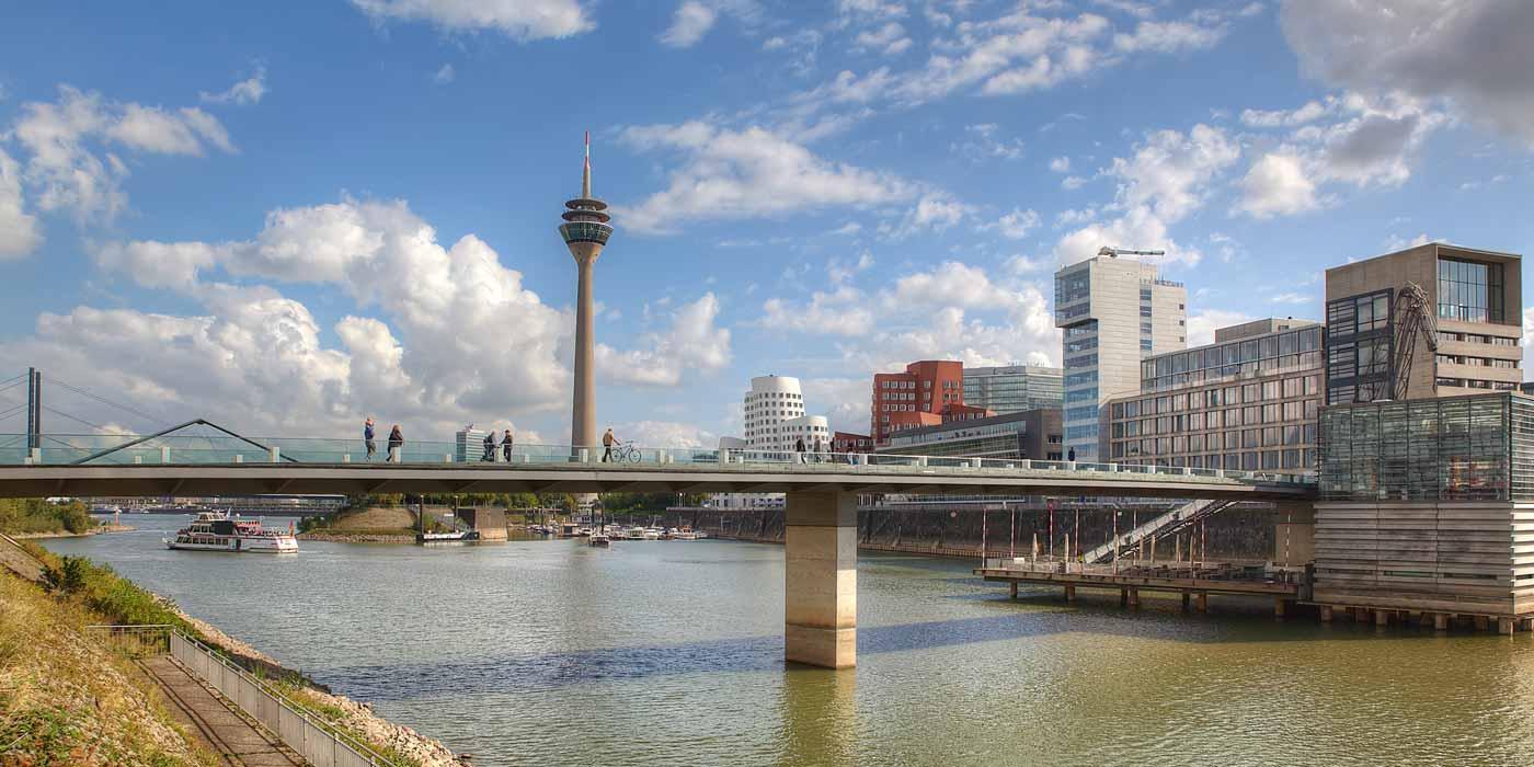 Stadt Ansichten und Bilder Düsseldorf
