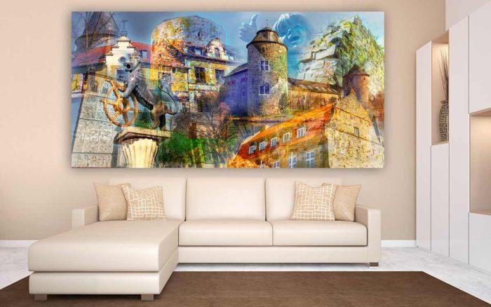 Collage Ratingen Bild   Modernes Kunst Panorama Motiv