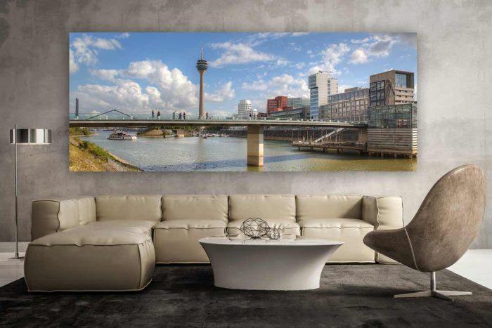 Düsseldorf Fotoart Medienhafen | Kunst Panorama Ansicht Hafen