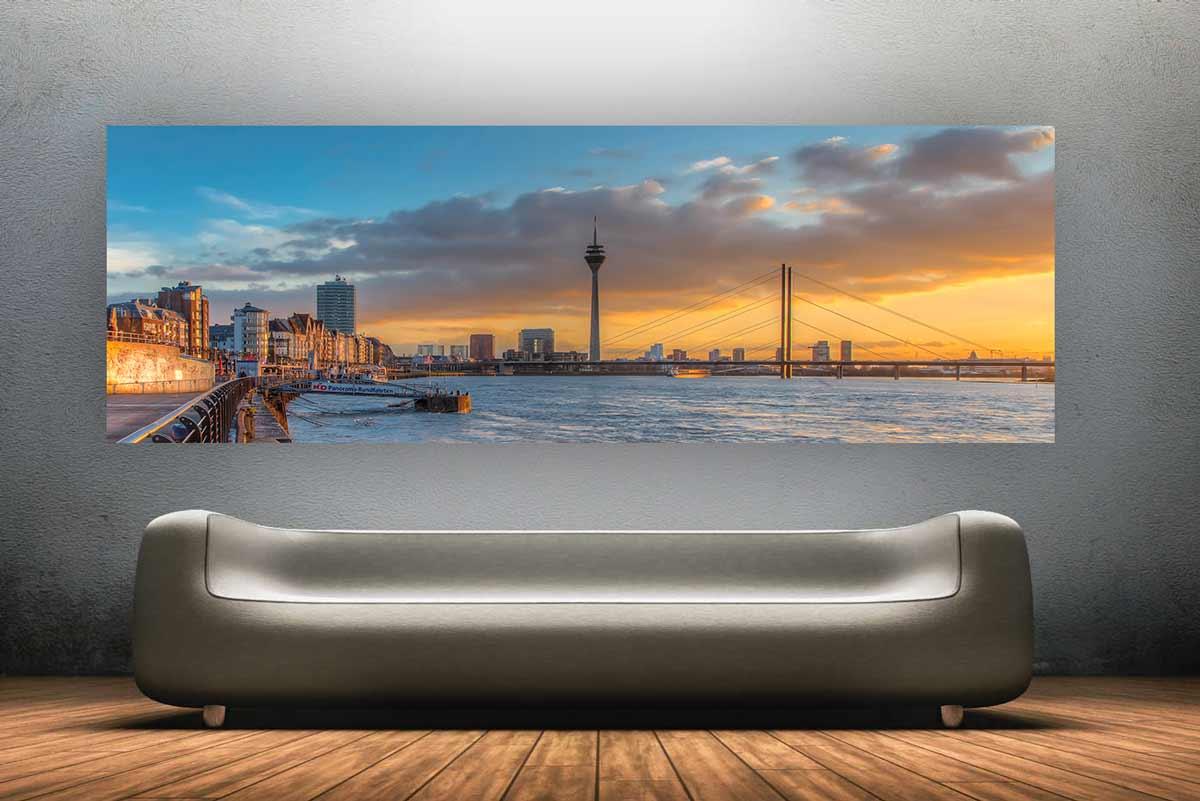 d sseldorf panorama skyline bild moderne kunst bilder. Black Bedroom Furniture Sets. Home Design Ideas