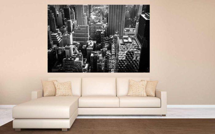 Bild New York, Moderne Foto Kunst der Skyline | Foto Art aus der Stadt New York im Panorama Style
