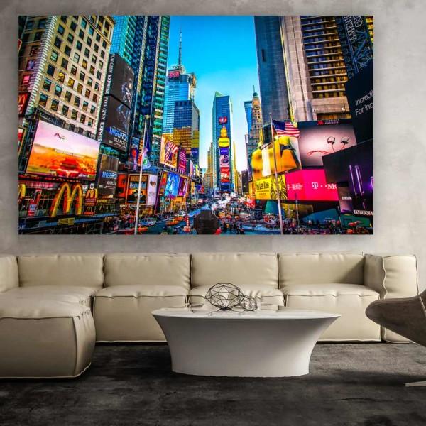 Times Square New York | Kunst Panorama Fotografie aus New York, Pop-Art New York Fotografie, moderne Fotokunst