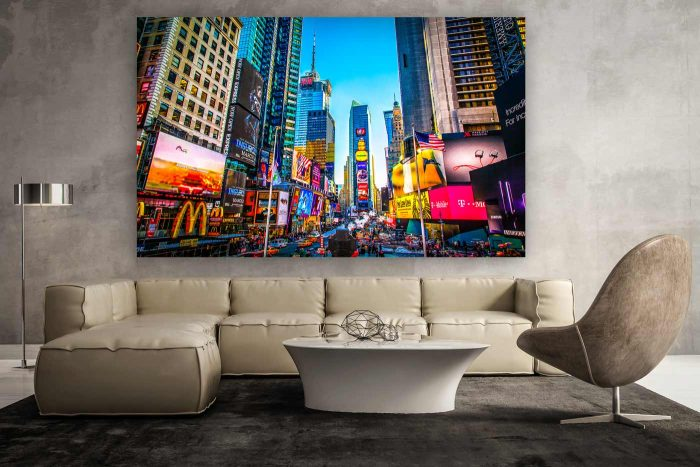 Times Square New York | Kunst Panorama Fotografie aus New York, Pop-Art New York Fotografie, moderne Fotokunst