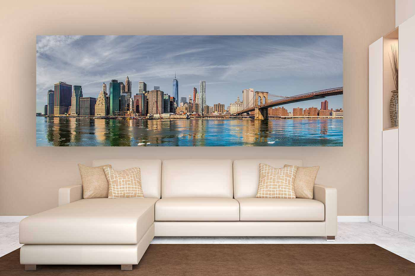 New York Leinwandbild ~ Leinwandbilder new york city panorama kunst bilder vom hudson
