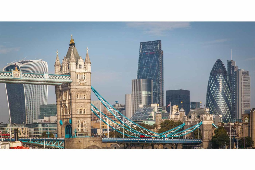 Kunst Collage London | Panorama Kunst im modernen Design