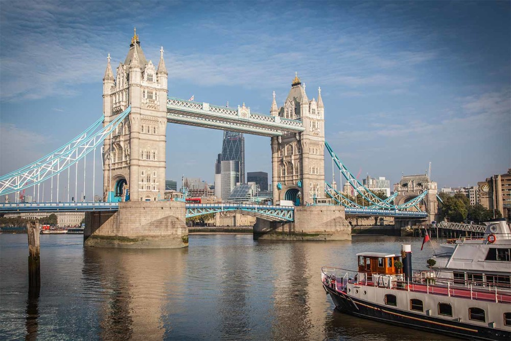 Best Panorama View on London Tower Bridge | Enjoy this Skyline