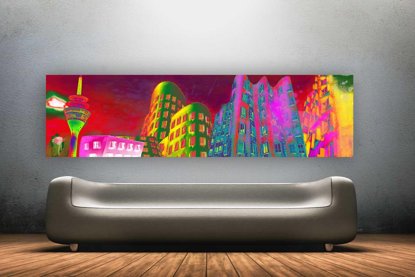 Kunst Bild Und Collage Moderner Pop Art Style Dusseldorf Modernes Dusseldorf Kunst Motiv Panorama Pop Art Kunst Bilder Und Collagen Made In Dusseldorf