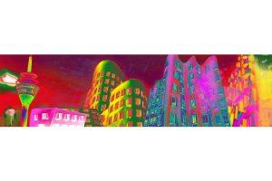 Kunst Bild Pop-Art Collage Düsseldorf | Modernes Düsseldorf Kunst Motiv