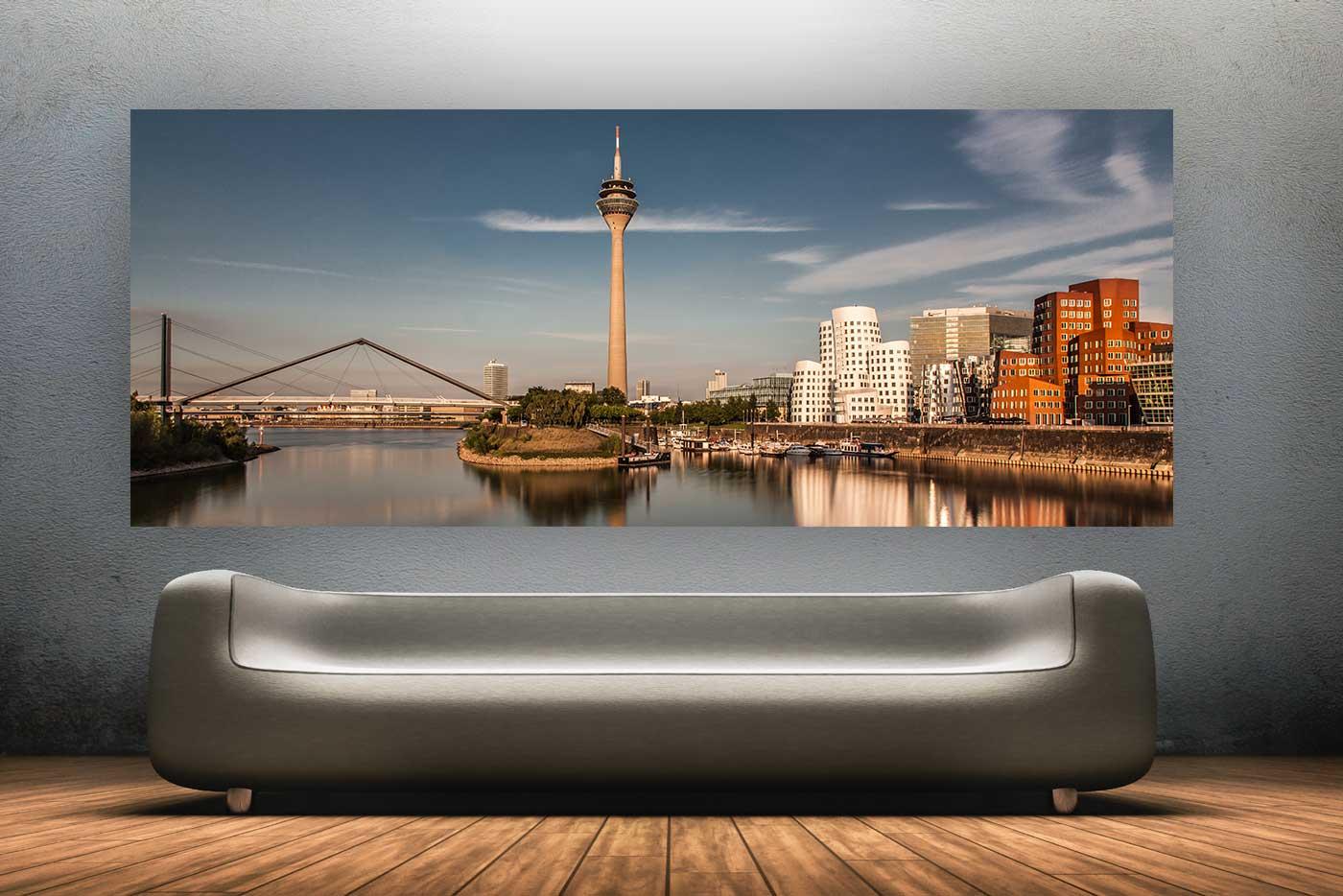 d sseldorf fotografie modernes skyline bild vom rhein. Black Bedroom Furniture Sets. Home Design Ideas
