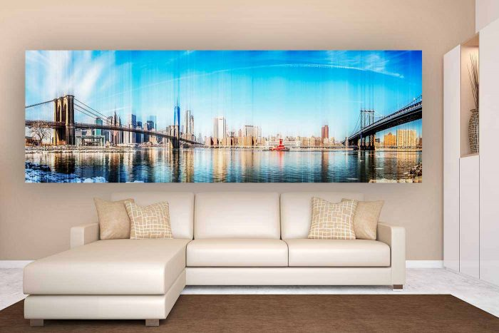 Kunst Skyline Collage New York | Modern Pop-Art Panorama Made in New York