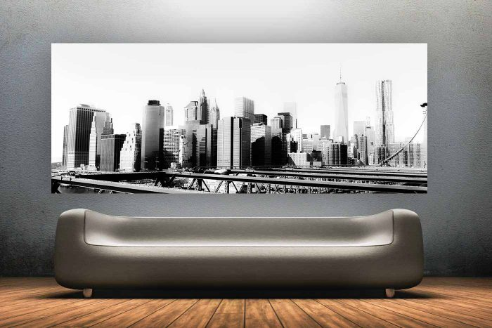 New York City Black and White Kunst | Skyline Panorama Bild