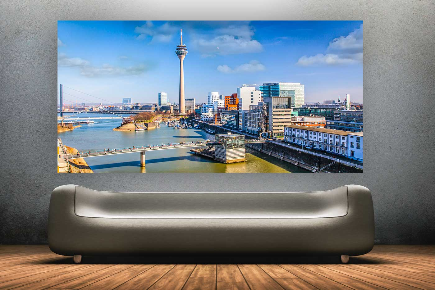 stadtbilder d sseldorf moderne skyline bilder und panoramen. Black Bedroom Furniture Sets. Home Design Ideas