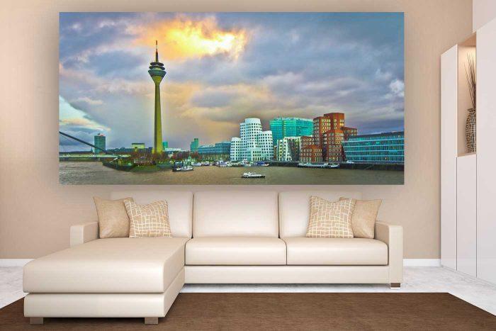 Classic Düsseldorf Panorama Ausblick | Skyline Düsseldorf Kunst
