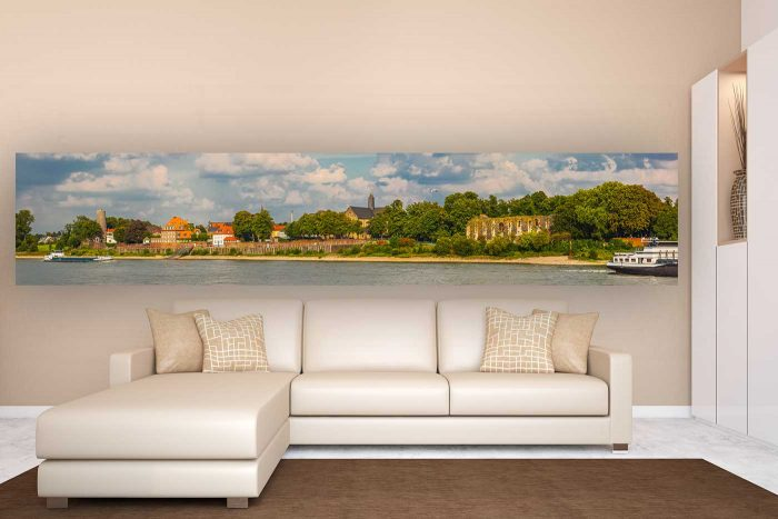 Panorama Welt Kaiserswerth | Kunst Bild im Skyline Panorama Format – Fotokunst die begeistert