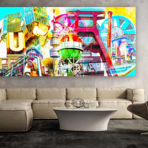 gerahmte Collage von Romy Schneider   Moderne Wandkunst