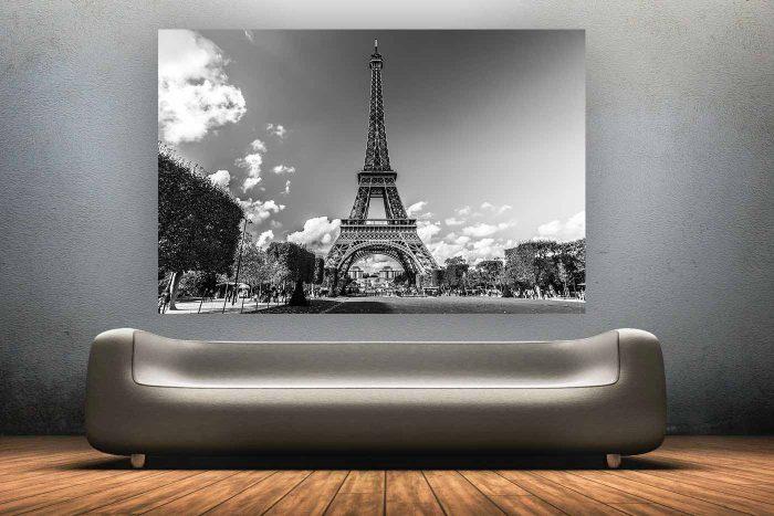 Paris en Black & White | Kunst Panorama Bild aus Paris, moderne Fotokunst