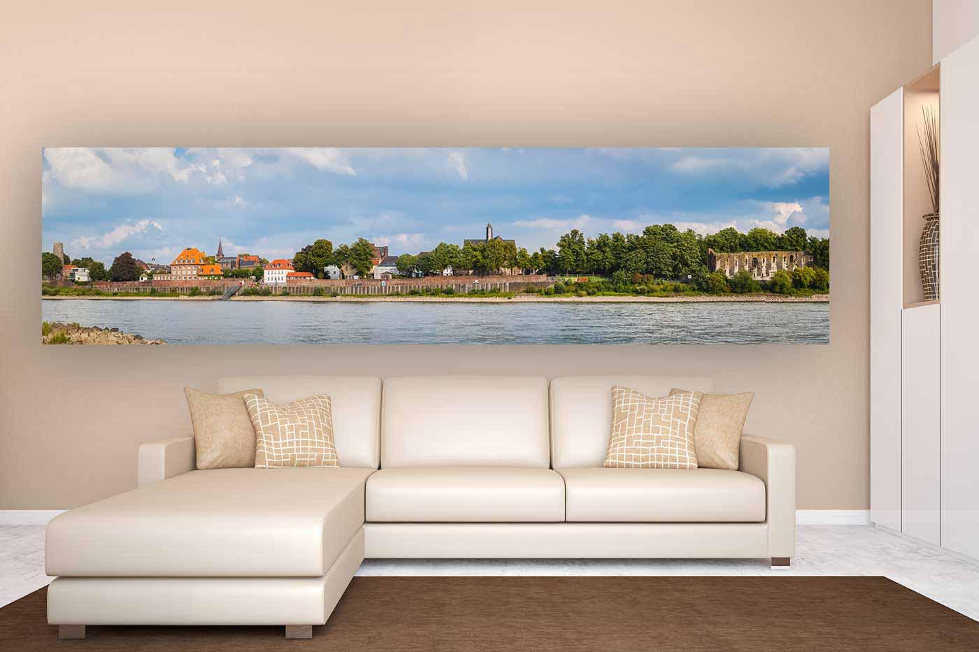 d sseldorf kaiserswerth panorama bilder kaiserpfalz und rhein. Black Bedroom Furniture Sets. Home Design Ideas