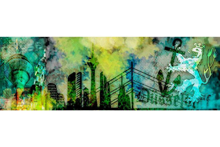 Kunst Collage und Fotokunst Bild | Made in Düsseldorf, für Düsseldorf Liebhaber