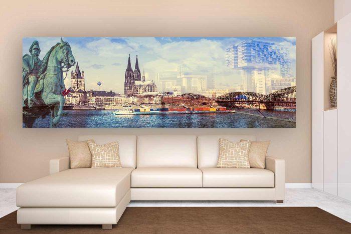 Bilder aus Köln| Kunst Panorama Collage aus Köln, Modernes Kunst Motiv aus Köln