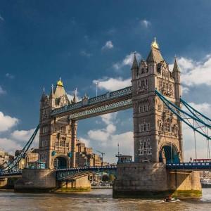 Tower Bridge London Kunst Panorama | Modernes Kunst Bild aus London