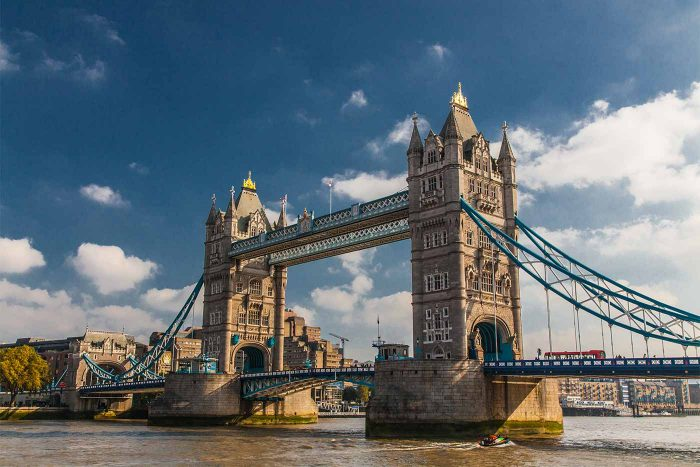 Tower Bridge London Kunst Panorama | Modernes Kunst Bild aus London